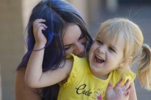 母娘の笑顔